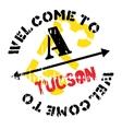 Tucson stamp rubber grunge vector image