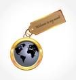 world button vector image