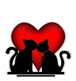 Cute cats in love vector image vector image
