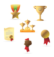 Icons for awards vector image vector image