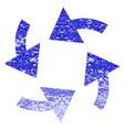 cyclone arrows grunge textured icon vector image