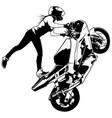 motorbike girl vector image vector image