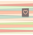 Striped background with label vector image