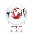 Infographic world of food Design template vector image
