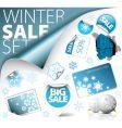 set of winter discount elements vector image vector image