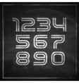 set of chalk sketched characters on blackboard vector image