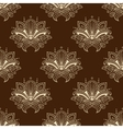 Brown and yellow eamless pattern with paisley vector image