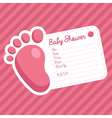 Pink Foot Baby Shower Invitation vector image