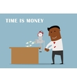 Businessman making money from a time vector image