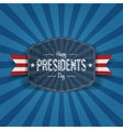Retro blue Banner with Happy Presidents Day Text vector image