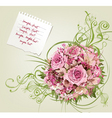 beautiful floral background vector image