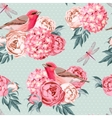Birds and flowers seamless vector image