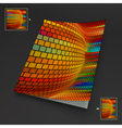 Colorful Textbook Booklet or Notebook Mock-up vector image