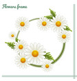 flowers frame one vector image