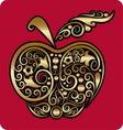 Golden apple ornament vector image