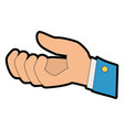 hand receiving isolated icon vector image