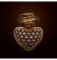happy valentines day golden vector image
