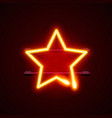 heon city sign star signboard gas vector image