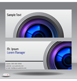Lens business card vector image