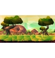 Low poly landscape for your design vector image