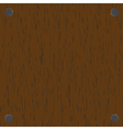 Nailed boards vector image