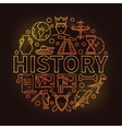 History colorful linear vector image