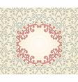 vintage pattern with floral frame vector image