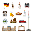 Germany Flat Icons Collection vector image