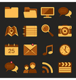 Flat icons set 5 vector image