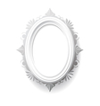 Vintage oval frame vector image