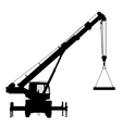 Crane Silhouette on a white background vector image