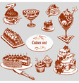 Cakes set vector image vector image
