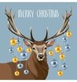 Christmas deer and christmas tree toys vector image