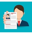 Searching business people vector image