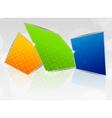 abstract futuristic design vector image vector image