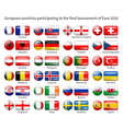 Flags EURO 2016 vector image