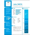 Business curriculum vitae and resume vector image