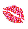 One kiss for Valentines Day vector image