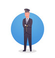 pilot icon airport airline crew worker staff vector image