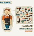 Profession of people Flat infographic Barber vector image