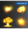 Realistic Explosions Set vector image