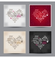 set of Valentine day typography design words vector image