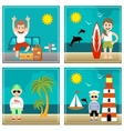 Summer set of Holiday sea travel vector image