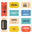 ticket set for cinema vector image