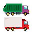 trucks flat style colorful cartoon vector image