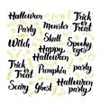 Halloween Party Lettering Design Set vector image