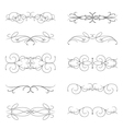 set of various curl black elements vector image vector image