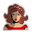 Woman comic face vector image