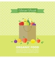 banner card with fresh fruits and berries vector image