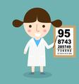 girl doctor vector image